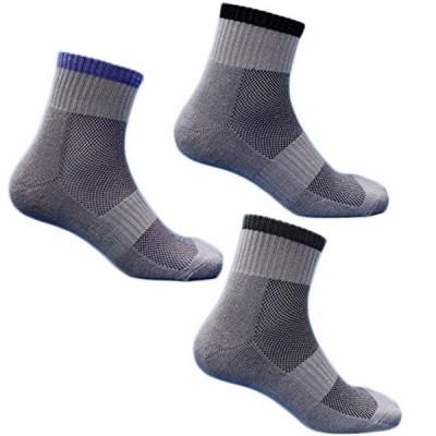 (SP712) 靴下 メンズ 底パイル&高級コーマ綿糸でソフトな履き心地 蒸れずに快適 綿 先丸ソックス 軍足 安全靴や作業用に グレー 3