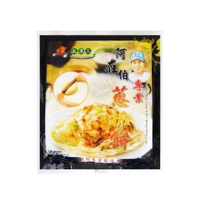【冷凍便】台湾ネギパンケーキ/台湾奇巧阿在伯専業葱抓餅120g*5枚【4711048470019】【異なる配送便の商品の同時購入不可】