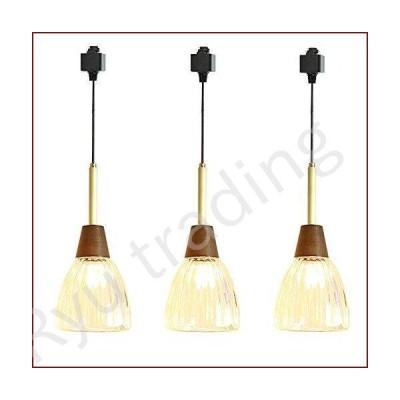 新品SKIVTGLAMP Dimmable Clear Glass Pendant Light H-Type Track Light Pendants 3.2 ft Cord Brass-Made E26 Wood Socket Decorate Industrial H