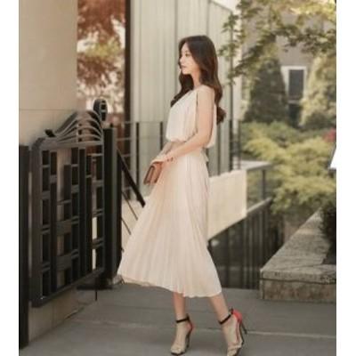 ドレス ワンピース レース ひざ下丈 ノースリーブ 20代 大人可愛い フェミニン 上品 春夏 結婚式 お呼ばれ a329