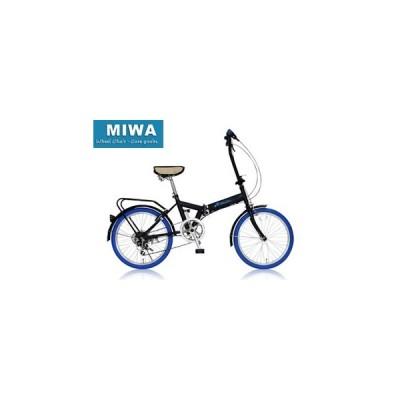 MIWA/美和商事  FD1B-206 折りたたみ 20インチ 6段変速 (ブルー)