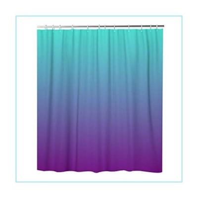 新品rouihot Shower Curtain Set with Hooks Turquoise Purple Ombre 72x72 Inch Waterproof Polyester Fabric Bath Bathroom Curtain