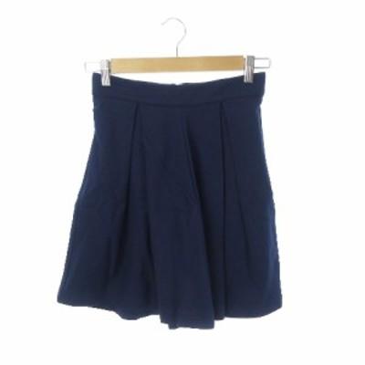 【中古】ポートマンズ portmons スカート フレア ミニ XS 紺 ネイビー /YH15 ☆ レディース