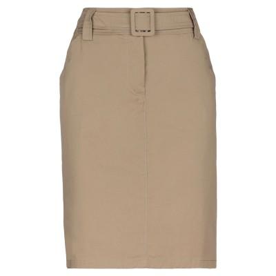 MARELLA ひざ丈スカート サンド 36 コットン 97% / ポリウレタン 3% ひざ丈スカート