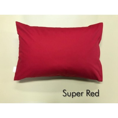 全18色 Sサイズ 枕カバー【スーパーレッド】赤/ピロケース/35cm×50cm/無地/ポイント消化♪
