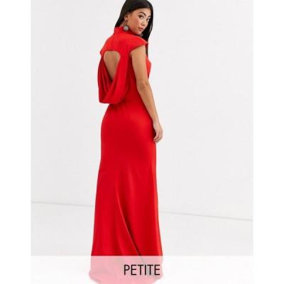 ジャーロ ミディドレス レディース Jarlo Petite maxi dress with cowl back and fishtail skirt in red エイソス ASOS レッド 赤