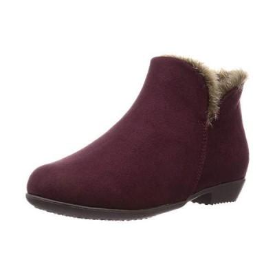 ヴェリココ ブーツ ブーティ 19.5~27.0cm ショート丈ファーブーツ(2cmヒール) ワインスエード調 25 cm