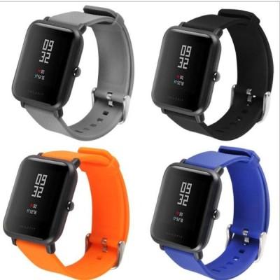 スポーツバンド 交換用腕時計ベルト ストラップ シリコン ラバー ブラック 20mm