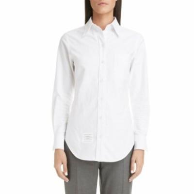 トム ブラウン THOM BROWNE レディース ブラウス・シャツ トップス Cotton Shirt White