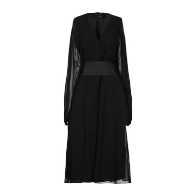 アトス ロンバルディーニ ATOS LOMBARDINI 7分丈ワンピース・ドレス ブラック 38 レーヨン 100% / ポリエステル / ポリウ
