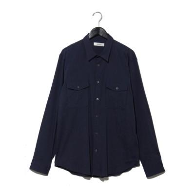 Rename[メンズ] (リネーム) ポケット付 リネンシャツ ブルー 3L