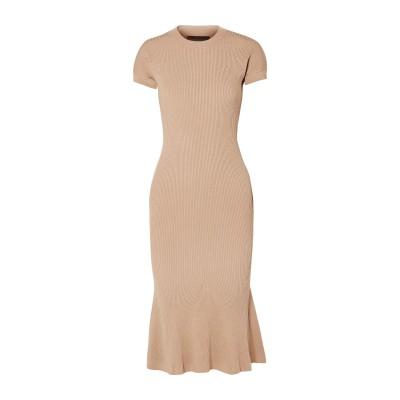 BRANDON MAXWELL 7分丈ワンピース・ドレス キャメル L レーヨン 83% / ポリエステル 17% 7分丈ワンピース・ドレス