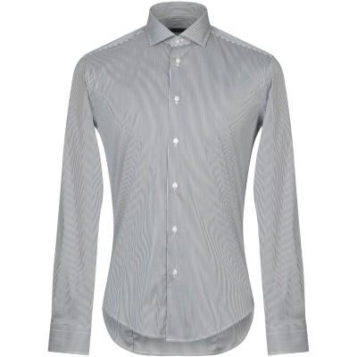 ブライアン デールズ BRIAN DALES シャツ ブルー 40 コットン 80% / ナイロン 15% / ポリウレタン 5% シャツ