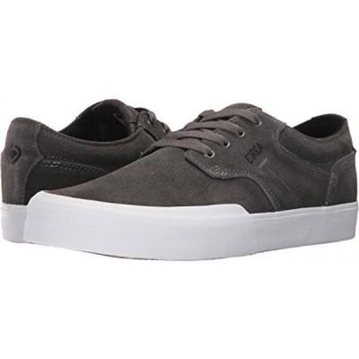 サーフィン C1RCA Men's Elston Low Profile Durable Non Slip Skate Shoe, CharcoalWhite, 9.5 Medium US