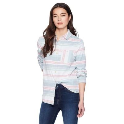 Pendleton Women's Petite Reversible Serape Stripe Cotton Shirt, Ivory/
