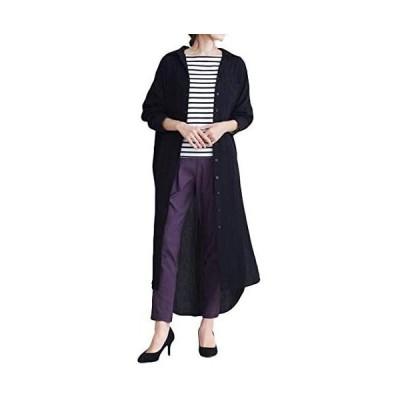 [フォーリーフ] ロングシャツ ロングシャツワンピ カジュアル シンプル ゆったり レディース リラックス 普段着 ふだんぎ ふだん着 人気 にんき