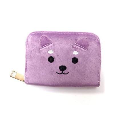 GoodsLand 【 4color 】 もふもふ 柴犬 じゃばら カードケース かわいい 可愛い レディース 女性 カード入れ 動物 ア