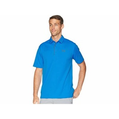 (取寄)アンダーアーマー メンズ テック ポロ Under Armour Golf Men's Tech Polo Blue Circuit/Graphite