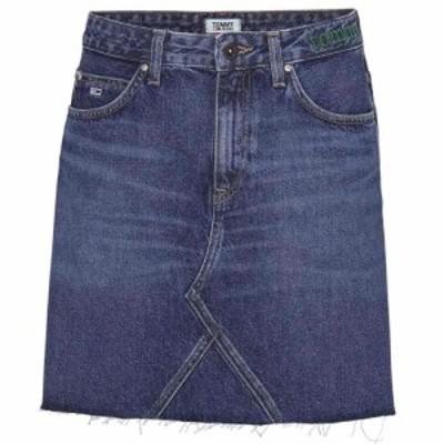 トミー ジーンズ Tommy Jeans レディース スカート デニム Denim Skirt TJ Save Mid Blu
