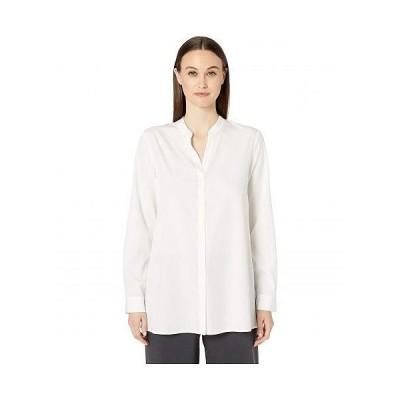 Eileen Fisher アイリーンフィッシャー レディース 女性用 ファッション ブラウス Stand Collar Top - Ivory