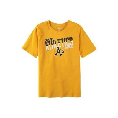 野球 MLB アウタースタッフ Oakland Athletics Youth Gold Alternate All Meshed Up T-Shirt