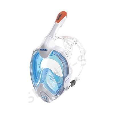 新品未使用!!送料無料!!SEAC Fun, Full Face Snorkeling Mask for Children 10+ and Small Faces, Safety Release Buckles, White/Orange, x