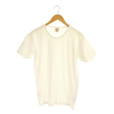 【中古】アヴィレックス AVIREX デイリー Vネック 半袖 Tシャツ M 白 ホワイト /MY ■OS メンズ 【ベクトル 古着】