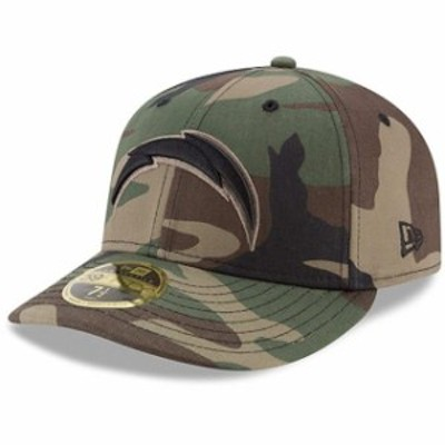 New Era ニュー エラ スポーツ用品  New Era Los Angeles Chargers Woodland Camo Low Profile 59FIFTY Fitted Hat