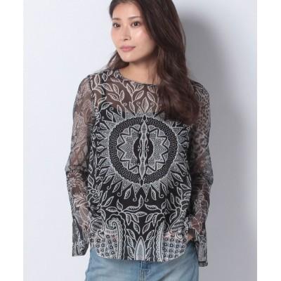 【デシグアル】 Tシャツ長袖 DIJON レディース ブラック系 M Desigual
