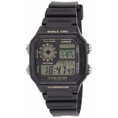 腕時計 カシオ メンズ Casio Classic Black Watch AE1200WH-1B