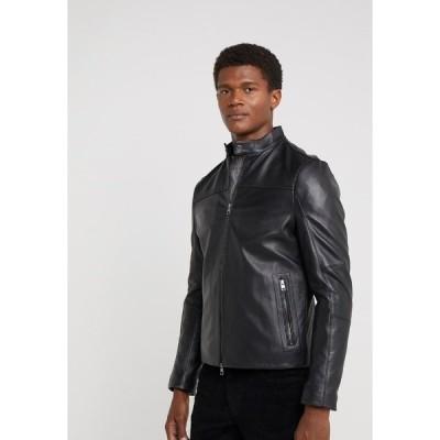 マイケルコース ジャケット&ブルゾン メンズ アウター BASIC RACER JACKET - Leather jacket - black