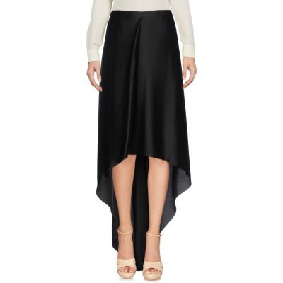 ブルネロ クチネリ BRUNELLO CUCINELLI ひざ丈スカート ブラック 44 アセテート 56% / レーヨン 44% ひざ丈スカート
