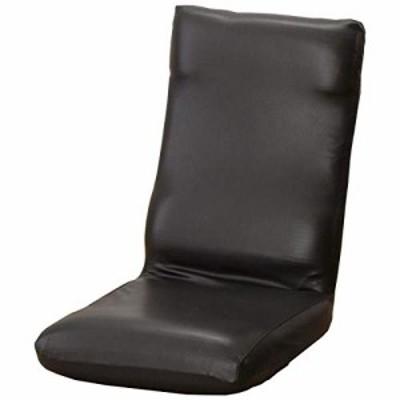 【送料無料】セシール ソファカバー ブラック 座椅子カバーM レザー調ストレッチ 座椅子用 CT-552