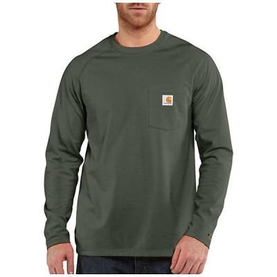 (取寄)カーハート メンズ フォース コットン デルモント ロングスリーブ Tシャツ Carhartt Men's Force Cotton Delmont LS T-Shirt Moss 送料無料