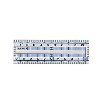 クツワ STAD コモグラス定規 10cm HS110C 『 3 セット 』
