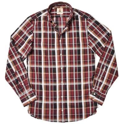 GUY ROVER ギローバー コットン リネン マドラスチェック ボタンダウンカラーシャツ