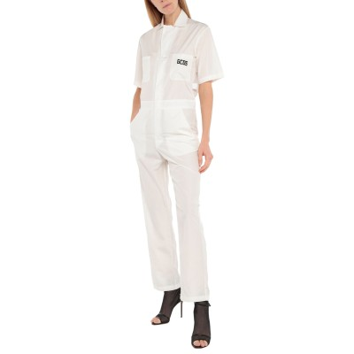 GCDS ジャンプスーツ ホワイト XS ポリエステル 100% ジャンプスーツ