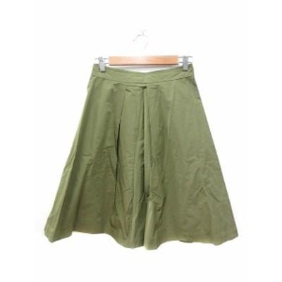 【中古】スピック&スパン ノーブル Spick&Span Noble フレアスカート ひざ丈 38 緑 カーキ /MN レディース