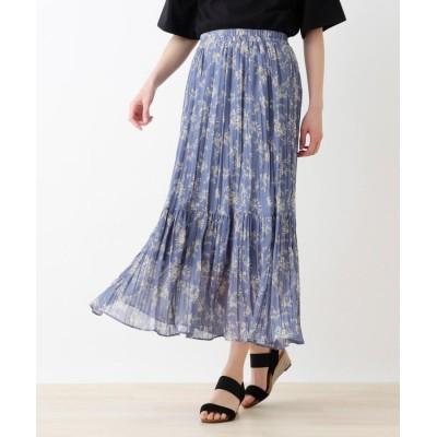 SHOO・LA・RUE(シューラルー) 花柄ティアードロングスカート