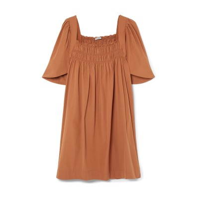 THREE GRACES LONDON ミニワンピース&ドレス ブラウン 10 コットン 100% ミニワンピース&ドレス