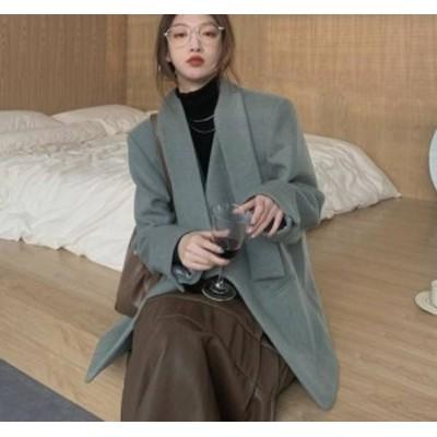 くすみカラー ジャケット アウター カジュアル レトロ 大人可愛い おしゃれ 韓国 オルチャン ファッション