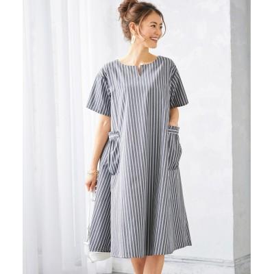 大きいサイズ ストライプ柄ワンピース(オトナスマイル) ,スマイルランド, ワンピース, plus size dress