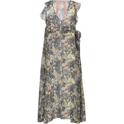 ヌメロ ヴェントゥーノ N°21 7分丈ワンピース・ドレス ブラック 42 シルク 100% 7分丈ワンピース・ドレス