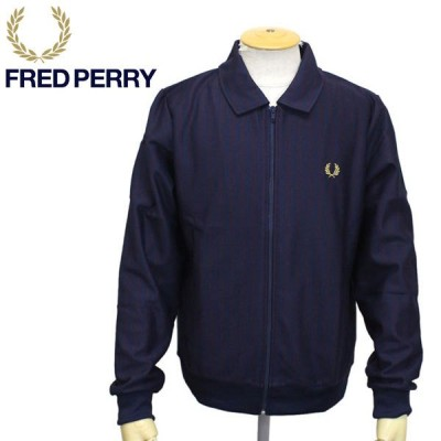 FRED PERRY (フレッドペリー) J9545 STRIPED TRACK JACKET トラックジャケット 266 CARBONBLUE FP416