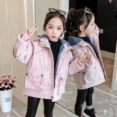 韓国子供服 ジャケット コート 冬服 女の子 女児 アウター フード付き 通学 厚手 防寒 長袖 キッズコート お出かけ カジュアル
