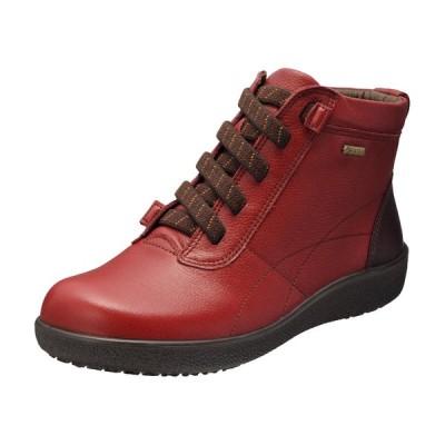 アキレスソルボ レディース 婦人靴 履きやすい 幅広 ウォーキングシューズ アキレス・ソルボ 285 レッド/バーガンディー [SRL2850]  ※22.0〜25.0cm【ブーツ】