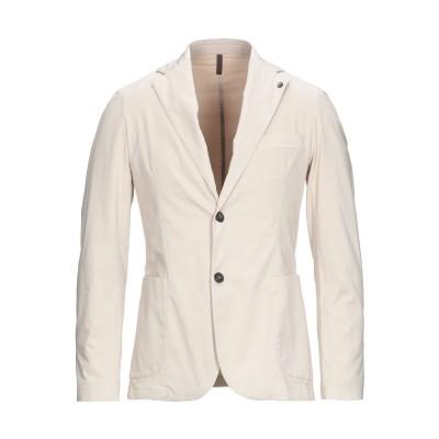 LABORATORI ITALIANI テーラードジャケット ベージュ 44 コットン 97% / ポリウレタン 3% テーラードジャケット