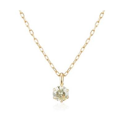 ディーコレクション D-COLLECTION 18金イエローゴールドダイヤモンドネックレス 0.1ct DS20095YG