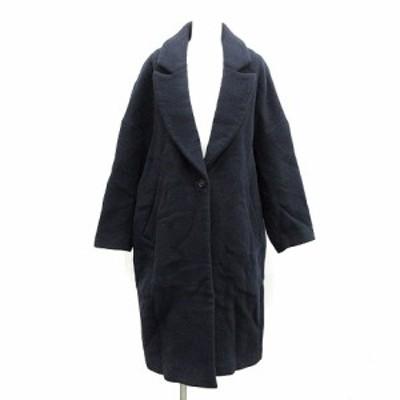 【中古】エンフォルド ENFOLD 16AW チェスターコート ロング オーバーサイズ 36 S 紺 ネイビー /NT21 レディース