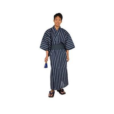 ショップエスト 浴衣 角帯 2点セット ワンタッチ角帯 ストライプ柄 着物 メンズ (L, C柄)